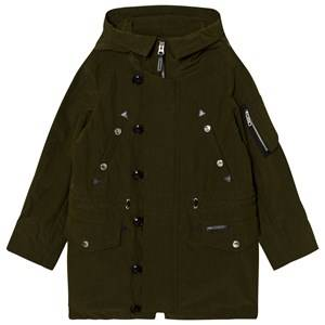 Burberry Unisex Coats and jackets Green Shillington Hooded Parka Dark Olive