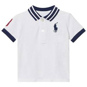 Ralph Lauren Girls Tops White Cotton Mesh Polo Shirt White