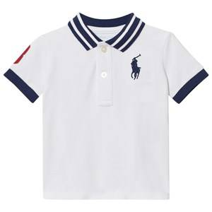Ralph Lauren Girls Tops White Cotton Mesh Polo Shirt White