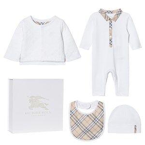 Burberry Unisex Clothing sets White 4 Piece Zayden Baby Gift Set