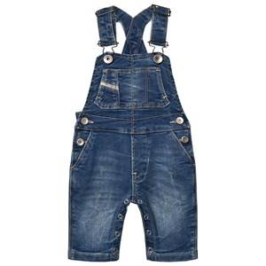 Diesel Unisex All in ones Blue Blue Denim Overall