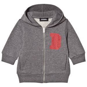 Diesel Boys Clothing sets Grey Grey D Logo Print Baby Zip Hoodie