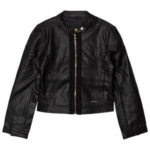 Guess Girls Coats and jackets Black Black Pleather Biker Jacket