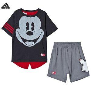 adidas Performance Boys Clothing sets Grey Grey Disney Micky Mouse Tee Shorts Set