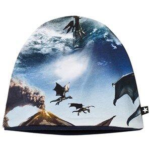 Molo Unisex Headwear Blue Ned Baby Hat Dragon Island