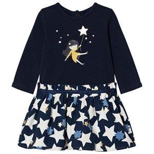 Catimini Girls Dresses Navy Navy Star and Girl Print Dress