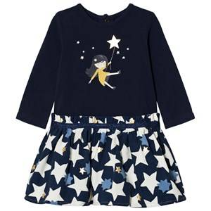 Catimini Girls Dresses Navy Navy Star and Girl Print Dress