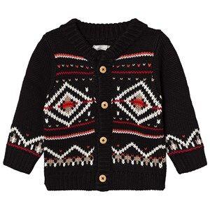 Catimini Boys Jumpers and knitwear Black Black Fairisle Knit Cardigan