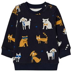Catimini Boys Jumpers and knitwear Navy Navy All Over Dog Print Sweatshirt