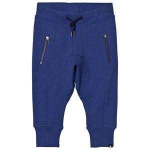 Molo Boys Bottoms Blue Ashton Soft Pants Monaco Blue