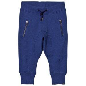 Molo Boys Bottoms Blue Ashton Soft Pants Monaco Blue