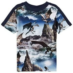 Molo Boys Tops Blue Rishi T-Shirt Dragon Island