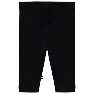 Image of Molo Girls Bottoms Black Nette Solid Leggings Black