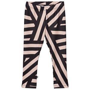 Image of Molo Girls Bottoms Blue Nikia Leggings Random Stripes