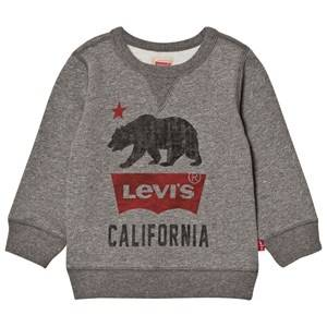 Levis Kids Boys Jumpers and knitwear Grey Grey Marl California Logo Sweatshirt