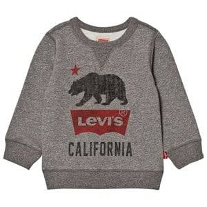 Levis Kids Boys Jumpers and knitwear Grey Grey Marl California Logo Sweatshirt