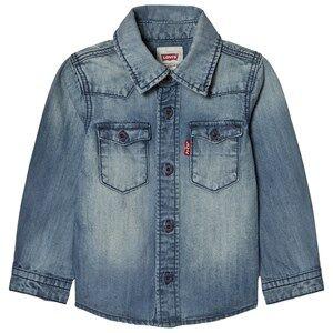Levis Kids Boys Tops Blue Blue Long Sleeve Denim Shirt