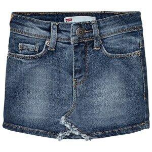 Levis Kids Girls Skirts Blue Blue Denim Skirt with Contrast Pocket