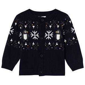 Image of Absorba Boys Jumpers and knitwear Navy Navy Penguin and Snowflake Knit Cardigan