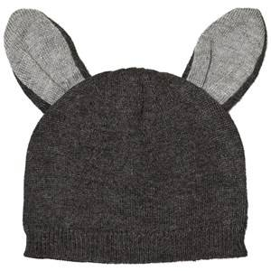 Absorba Unisex Headwear Grey Grey Knit Beanie with Ears