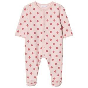 Image of Absorba Girls All in ones Pink Pink Spot Padded Footed Baby Body