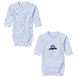 Image of Absorba Boys All in ones Blue Pack of 2 Car Print Jersey Bodies