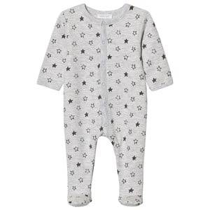 Image of Absorba Unisex All in ones Grey Grey Star Print Jersey Footed Baby Body