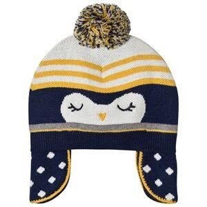 Absorba Girls Headwear Navy Navy Penguin Knit Bobble Hat