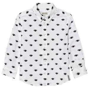 Kenzo Boys Tops White White All Over Eye Print Shirt