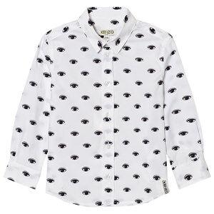 Kenzo Boys Tops White White All Over Eye Print Shirt