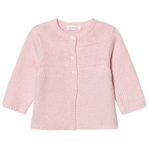 Image of Absorba Girls Jumpers and knitwear Pink Pale Pink Cashmere-Cotton Textured Knit Cardigan