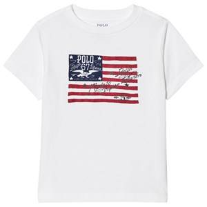 Image of Ralph Lauren Boys Tops White White Cotton Jersey Graphic Tee