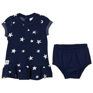 Ralph Lauren Girls Dresses Navy Star Print Dress and Bloomer