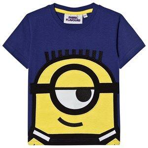 Fabric Flavours Boys Tops Blue Blue Minions Applique T-Shirt