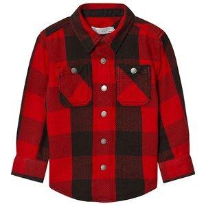 Stella McCartney Kids Boys Tops Red Red Melvil Check Shirt