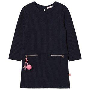 Image of Billieblush Girls Dresses Navy Navy Pom-Pom Detail Jumper Dress