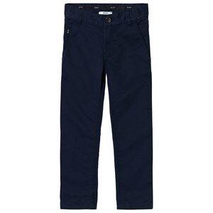 Boss Boys Bottoms Navy Navy Chino Trousers