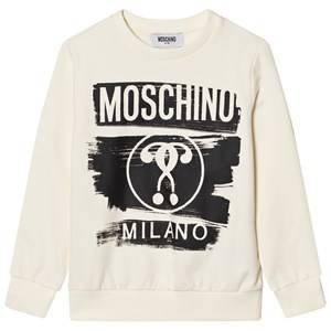 Moschino Kid-Teen Boys Jumpers and knitwear White White Milano Moschino Sweatshirt
