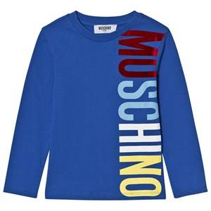 Moschino Kid-Teen Boys Tops Blue Blue Branded Long Sleeve Tee