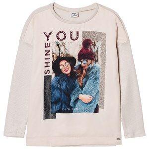 Mayoral Girls Clothing sets Beige Beige Fashion Girls Print Long Sleeve Tee