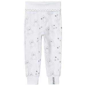 Geggamoja Unisex All in ones Grey Organic Doddi Pants White/grey
