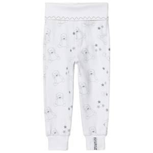 Geggamoja Unisex All in ones Grey Organic Doddi Pants White/grey