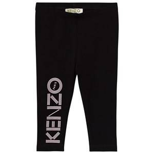 Kenzo Girls Bottoms Black Black Branded Leggings