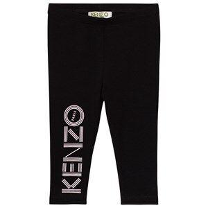Kenzo Girls Bottoms Black Black Branded Leggings