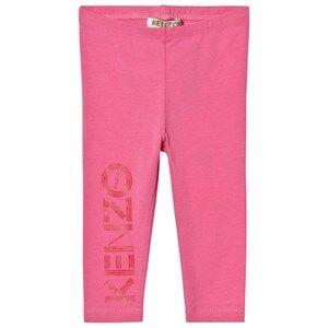 Kenzo Girls Bottoms Pink Pink Branded Leggings