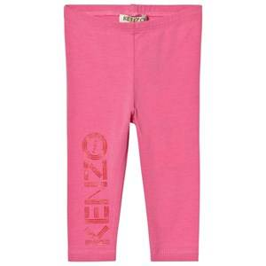 Kenzo Girls Bottoms Pink Pink Branded Leggings