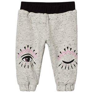 Kenzo Girls Bottoms Pink Reversible Eye Print Track Pants Grey/Pink