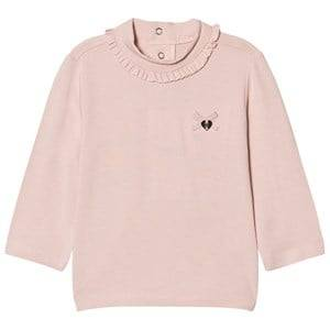Mayoral Girls Tops Pink Pale Pink Frill Polo Neck