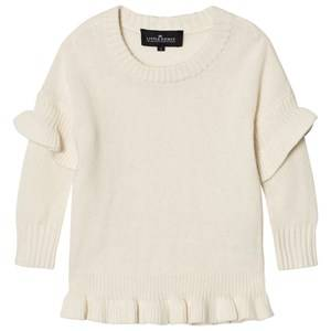 Little Remix Girls Jumpers and knitwear White Jr Sydni Ruffle Sweater Ivory