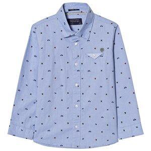 Mayoral Boys Tops Blue Blue Printed Long Sleeve Shirt
